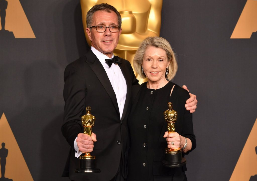 David Wasco and Sandy Reynolds-Wasco, Oscar 2017 winners for Production Design for 'La La Land""