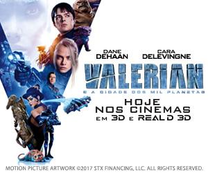 """""""Valerian e a Cidade dos Mil Planetas""""   Banner Lateral Exibição"""